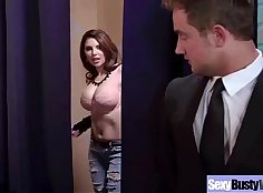 Busty wife toying both holes during bang with boy