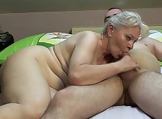 Big Matures In A Bedroom Enjoy Couple Of Dildos