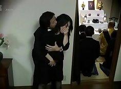 Japanese Poor Sister Teasing Down Her Haired Husband