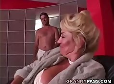 Fucked busty grandma with tight pussy