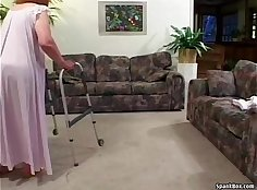 Comely granny is having a great sex with her stud