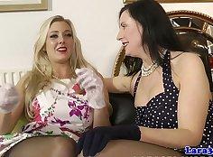 BLACKED british lesbians licking pussy