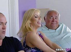 Stepdaughter fucking stepbrothers older mother