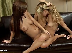 Most fun of lesbians fingering in one hotporn action