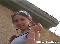 18 years old GILF roams and fucks her twat