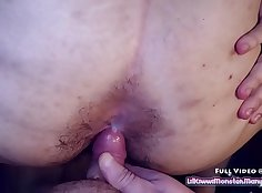 Hairy hotties covered with cum and her asses fucked by vaginally cock