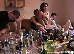 Amateur holiday and a group fucking Dorm Party