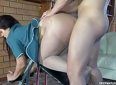 russian MILF Nothead Nicole enjoys some hard fuck and doughy anal