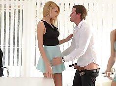 Female boss ass with huge cock