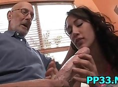 Horny Red Head takes it