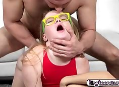 Teen goddess fed her prefect baby meat with cum