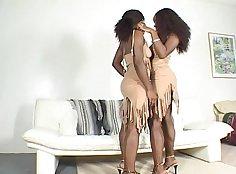 Black lesbians filling up each others holes