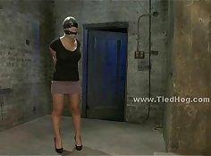 BDSM Slave brutally whipped screaming