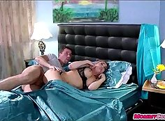 Blonde mom and daughter caught red tape