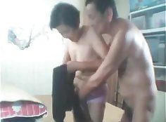 Chinese Girl With Two Dildo Dildos