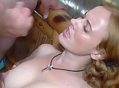 German cute babe used by masseur before fucking