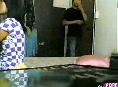 Hidden camera guy fucks and sucks stockings