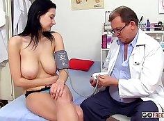 Big tit cfnm bj and doctors feet