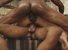 Interracial double anal with black monster cock