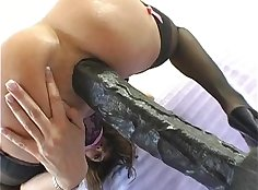 beautyman jumps on big dick as he hardcore fucks her tight ass