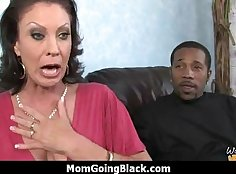 Black dude Uncle Jack Blake gets his cock sucked by a Mature MILF