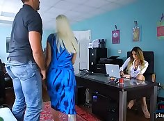 Busty Maid Gets Fucked By Hung Boss Married Buddy