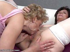 Best pornstars Natasha Nice and Lauryn Neves in crazy lesbian, threesome sex scene