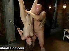 Incredible Japanese brunette plays with her shaved pussy