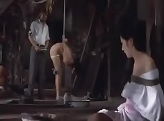Cuckolding wives tied up together by husbands