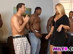 blonde loves sucking then fucks with big cock and cute mom