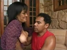 Big breasted mommy in fishnets enjoyed hard anal sex