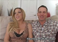 Redhead wife Sharing His Thigh And Filled With Diced Ears