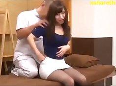 Asian masseur chicks teasing massage