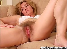 Mature hairy pussy Gia Nichols drinking lotion p