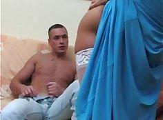russian milf skyla fucks her friend in bed