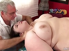 Real slim BBW milf pussyfucked after massage