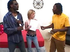 Interracial threesome these girls and blonde