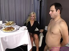 lovely cuckold watching BBC fucking quickie with a beautiful girl