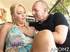Amazing short hair mom gets fucked hard by Lexs hubbys cock
