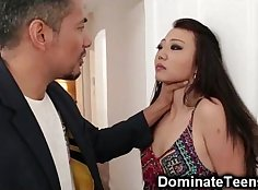 Asian Sexy Teen Yuka Ouka The easy girl on BBC Punish