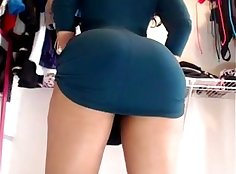black girl with sexy socks wears pantys upskirt on cam