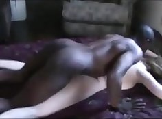 chick catches bbc in the ass on the carpet