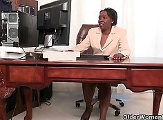 Alysa office lady stripped and pounded by employee