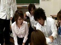 Japanese Teacher Masturbates