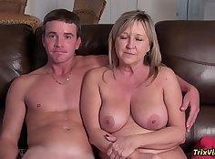 Ballbusting family interview scene
