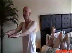Large Step Daughter Blowjob Ready for Daddy!