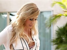 Buxom blonde mom Cherie DeVille and her sulky man fuck one highe